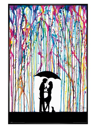 Gloss Black Framed Raining Colour - Marc Allante