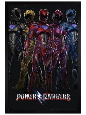 Black Wooden Framed It's Morphin' Time - Power Rangers