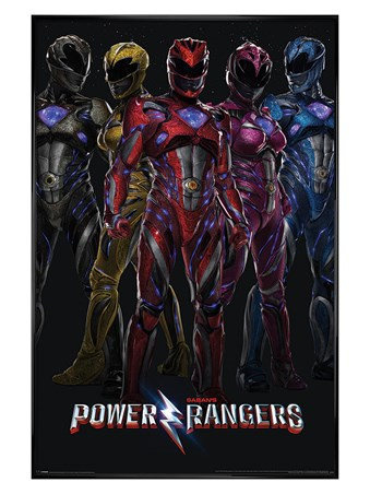 Gloss Black Framed It's Morphin' Time - Power Rangers