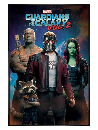 Gloss Black Framed Characters In Space - Guardians of the Galaxy Vol. 2
