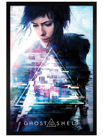 Black Wooden Framed One Sheet - Ghost In The Shell
