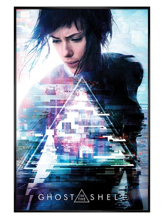 Gloss Black Framed One Sheet - Ghost In The Shell