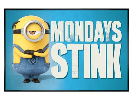 Gloss Black Framed Mondays Stink - Despicable Me 3