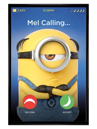 Gloss Black Framed Mel Calling - Despicable Me 3