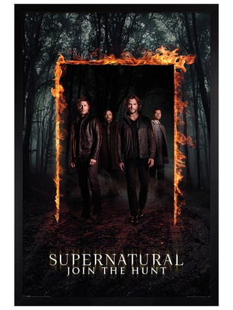 Black Wooden Framed Through The Fire And Flames - Supernatural