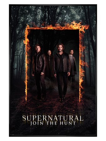 Framed Gloss Black Framed Through The Fire And Flames - Supernatural