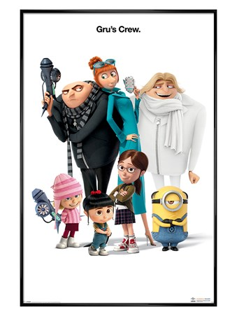 Gloss Black Framed Gru's Crew - Despicable Me 3