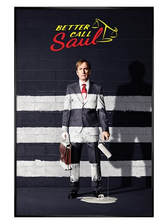 Gloss Black Framed Painted Stripes - Better Call Saul