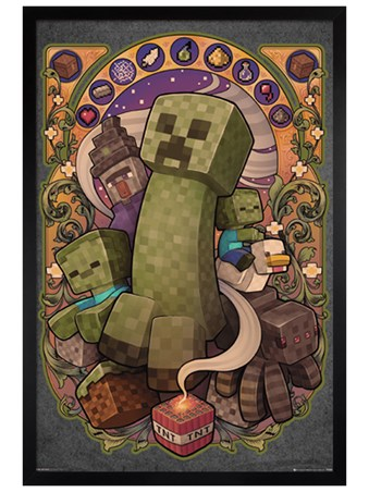 Black Wooden Framed Creeper Nouveau - Minecraft