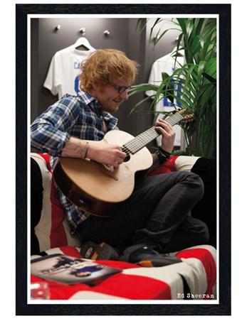 Black Wooden Framed Winning At Wembley - Ed Sheeran
