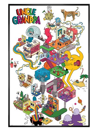 Gloss Black Framed Uncle Grandpa - A Warped Mind