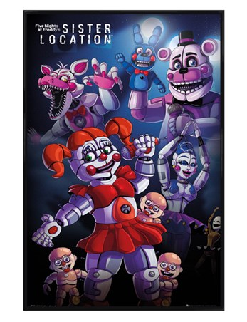 Gloss Black Framed Sister Location - Five Nights At Freddy's