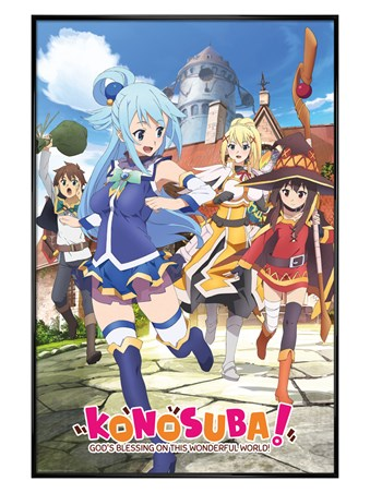 Gloss Black Framed God's Blessing On This Wonderful World! - Konosuba