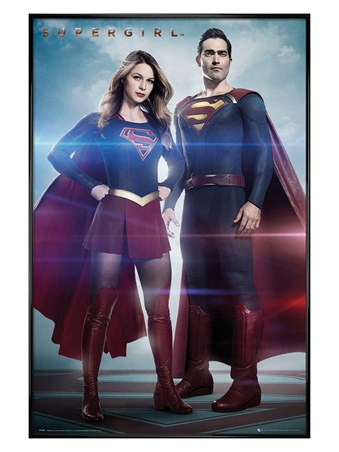 Gloss Black Framed Super Duo - Supergirl