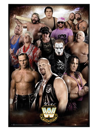 Gloss Black Framed Legends - WWE