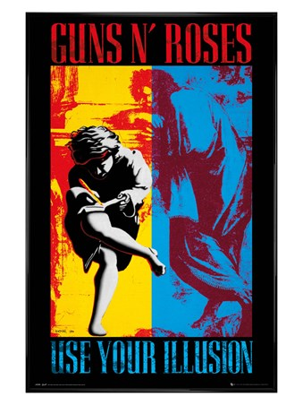 Gloss Black Framed Use Your Illusion - Guns N Roses