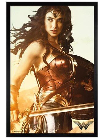 Black Wooden Framed The Sword of Athena - Wonder Woman