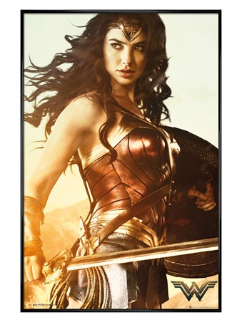 Gloss Black Framed The Sword of Athena - Wonder Woman