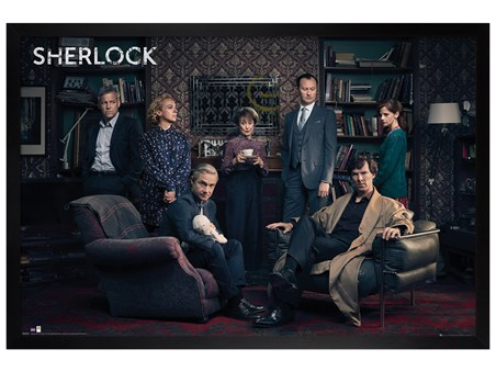 Black Wooden Framed Meet the Cast - Sherlock