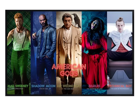 Gloss Black Framed Character Collage - American Gods