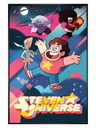 Framed Gloss Black Framed Into Action - Steven Universe