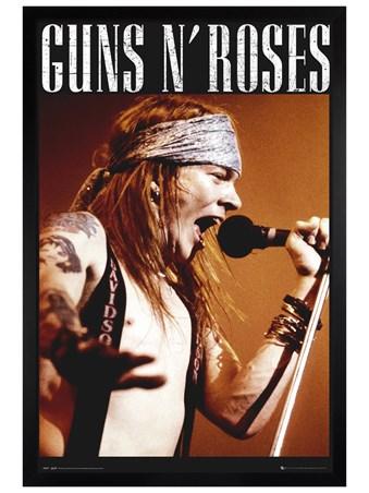 Black Wooden Framed Axl - Guns N Roses