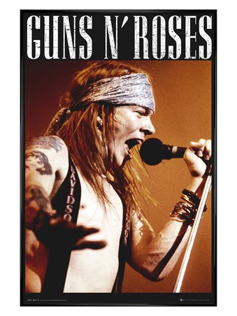 Gloss Black Framed Guns N Roses - Axl Rose