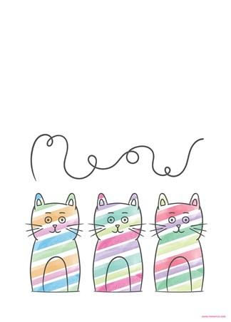 Meow - Stripy Trio