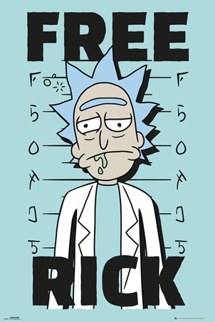 Framed Free Rick - Rick and Morty