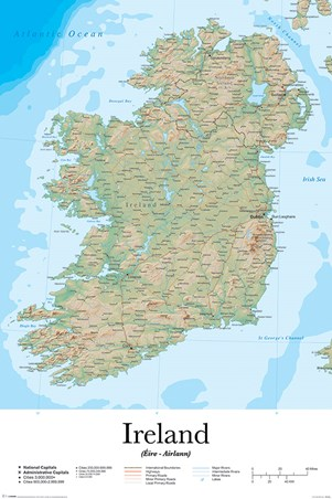 Emerald Isle - Map Of Ireland
