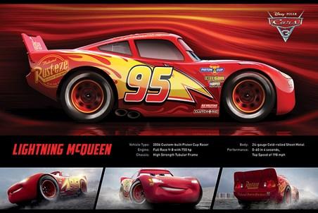 Framed Lightning McQueen Stats - Cars 3