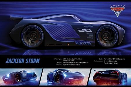 Jackson Storm Stats - Cars 3