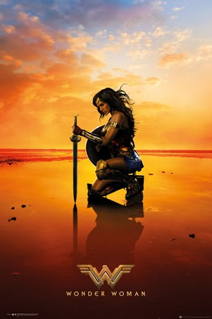 Framed Kneel - Wonder Woman