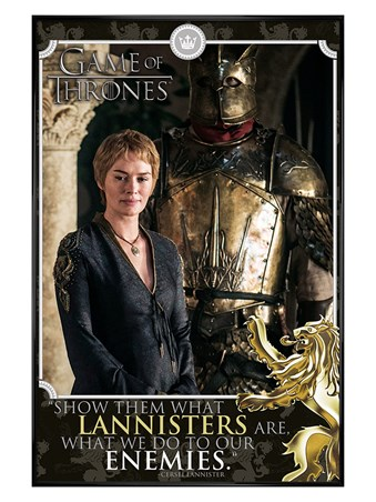 Gloss Black Framed Cersei - Game of Thrones