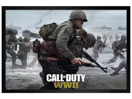 Black Wooden Framed Stronghold WWII - Call Of Duty