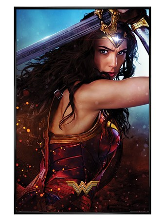 Gloss Black Framed Sword - Wonder Woman