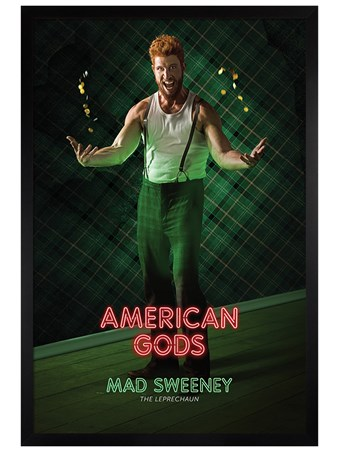Black Wooden Framed Sweeney - American Gods