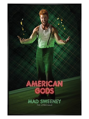 Gloss Black Framed Mad Sweeney - American Gods