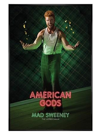 Framed Gloss Black Framed Mad Sweeney - American Gods