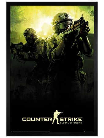 Framed Black Wooden Framed Team - Counter Strike