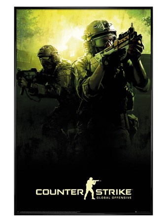Gloss Black Framed Counter Strike - Team