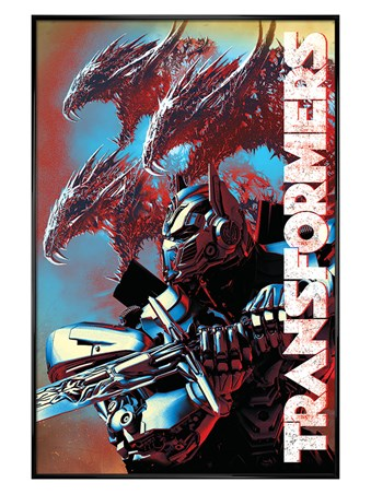 Gloss Black Framed The Last Knight Dragons - Transformers
