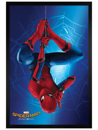 Black Wooden Framed Hang - Spider-Man Homecoming
