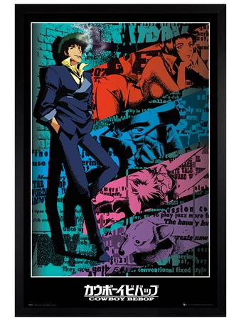 Framed Black Wooden Framed Spike - Cowboy Bebop