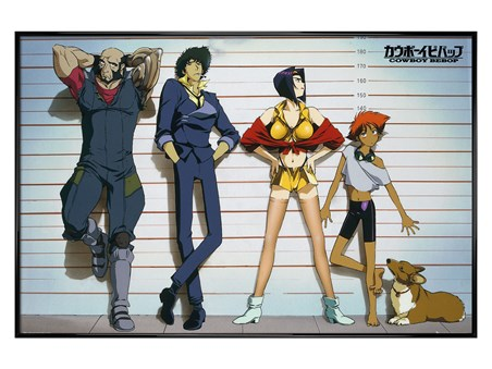 Gloss Black Framed Cowboy Bebop - Line Up
