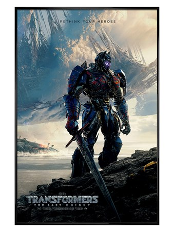 Gloss Black Framed Rethink Your Heroes - Transformers The Last Knight
