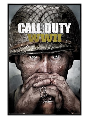 Gloss Black Framed Stronghold WWII Key Art - Call Of Duty