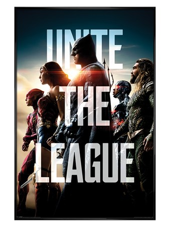 Gloss Black Framed Unite The League - Justice League