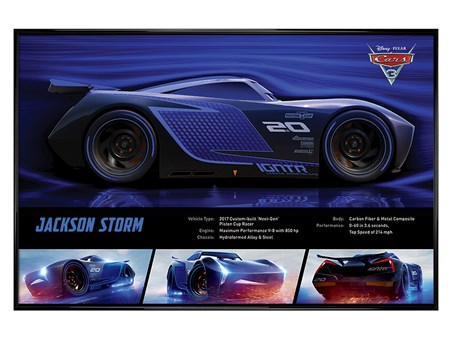 Framed Gloss Black Framed Jackson Storm Stats - Cars 3