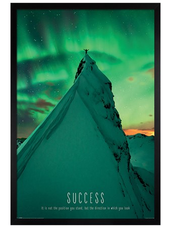 Black Wooden Framed Success - Motivational